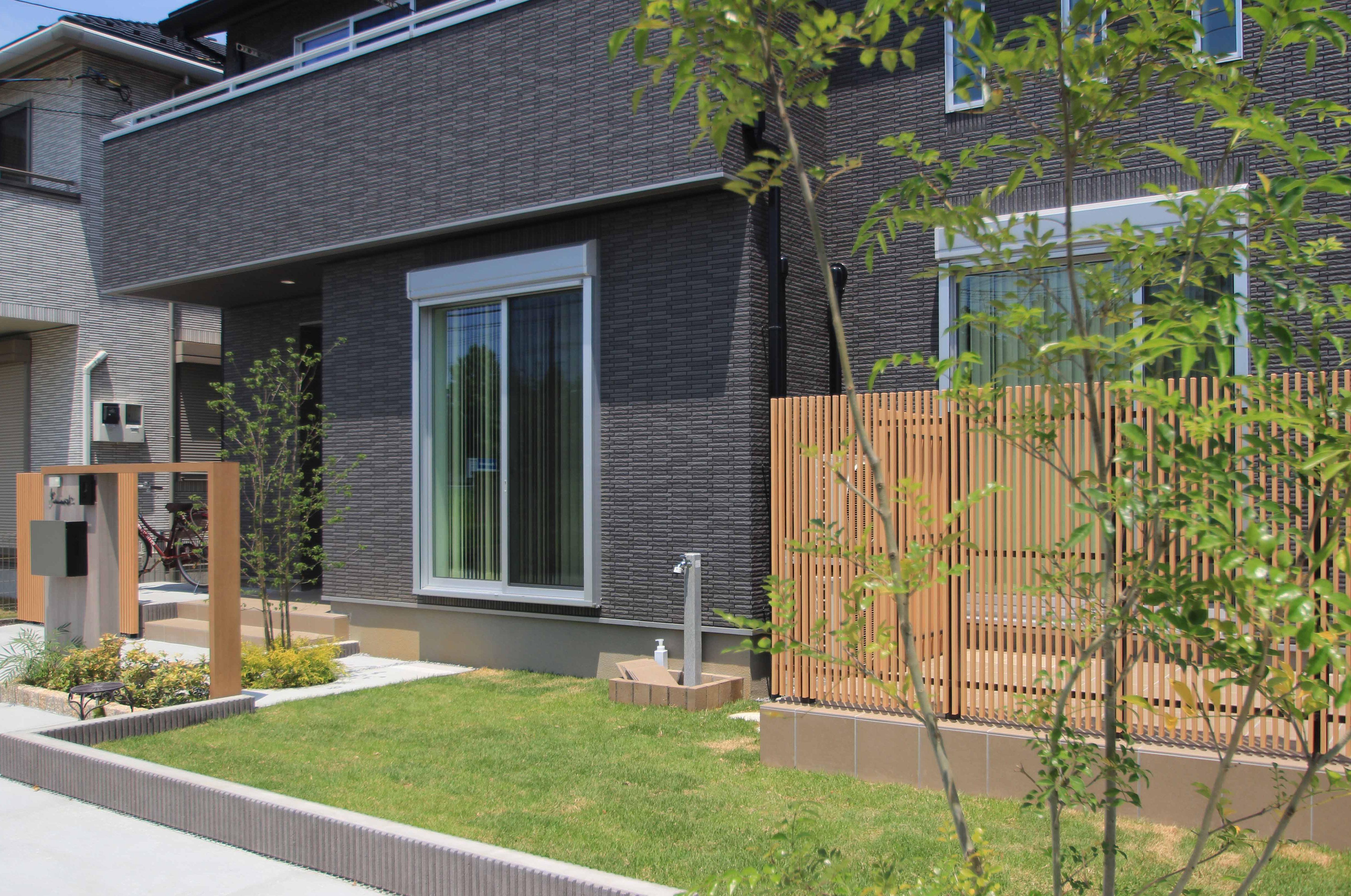 千葉市花見川区。新緑がはなやぐ贅沢な空間。きれいめエクステリアの完成です。12