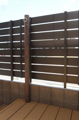千葉市にて。ウッドデッキとタイルテラスのプライベートガーデンです。15