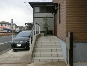 袖ヶ浦市にて。既存駐車場を素敵にエクステリアリフォーム。6