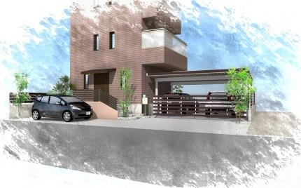袖ヶ浦市にて。既存駐車場を素敵にエクステリアリフォーム。2