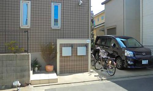 千葉市稲毛区。ボタニカルなアイアン扉で玄関リフォーム。5