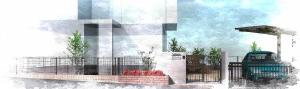 鋳物門扉とレンガでアンティークな外構<br>船橋市T様邸5