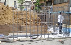 鉄筋コンクリートの地下車庫<br>柏市T様邸3