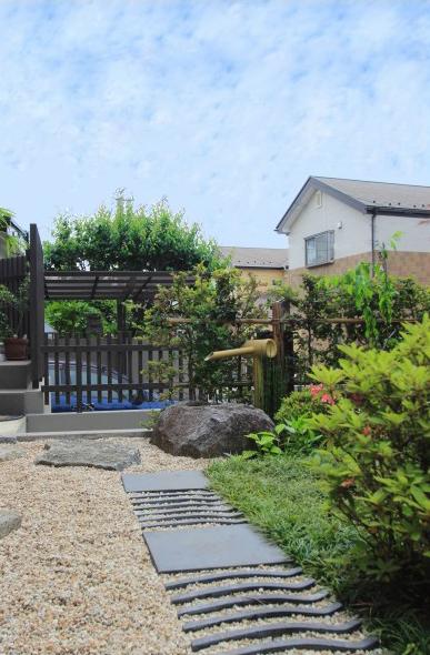 和風ガーデン。<br>千葉市F様邸8