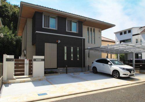 >千葉市緑区おゆみ野南 モダンな外構が完成しました