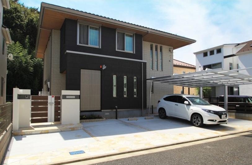 千葉市緑区おゆみ野南 モダンな外構が完成しました1