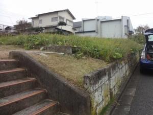 高台で高低差のあるエクステリアプラン<br>成田市5