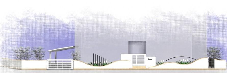 曲線の壁<br>江戸川区K様邸3