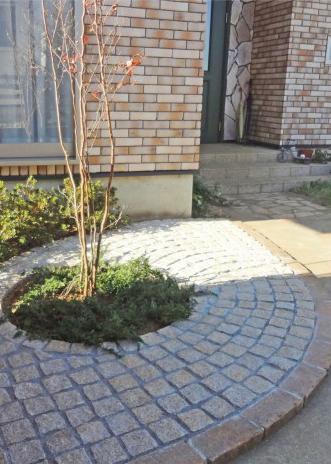 円形花壇でガーデンリフォーム<br>千葉市K様邸7