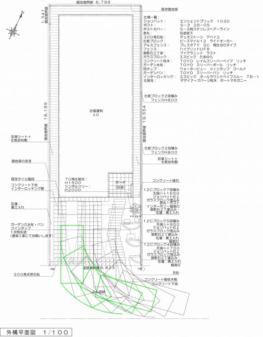 千葉市にて。枕木のアプローチと緑いっぱいなナチュラルガーデン。2