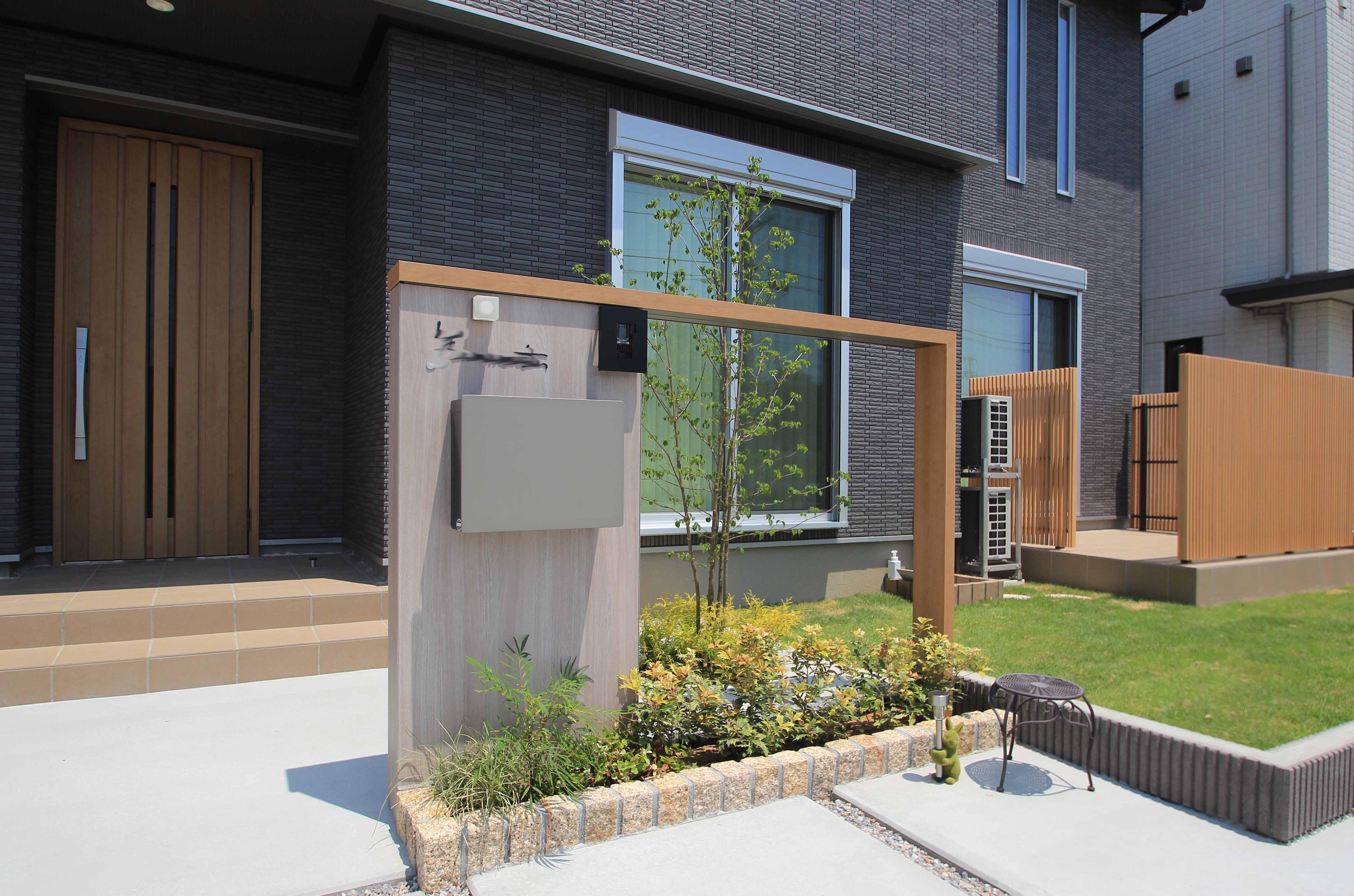 千葉市花見川区。新緑がはなやぐ贅沢な空間。きれいめエクステリアの完成です。9
