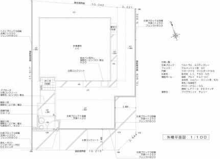 シンプルモダンな門廻り<br>東金市I様邸2