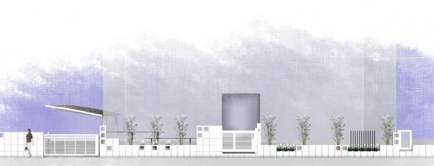 曲線の壁<br>江戸川区K様邸5