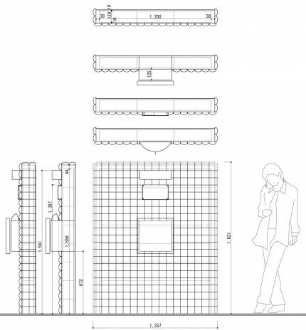 デザインタイルを使ったおしゃれな門袖<br>松戸市S様邸6
