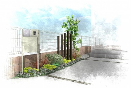 花壇の外構リフォーム工事<br>船橋市T様邸2