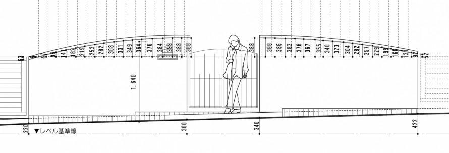 鋳物の門扉と曲線の壁<br>佐倉市S様邸3