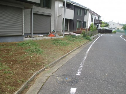 千葉市緑区おゆみ野南。<br>モダンな外構が完成しました5