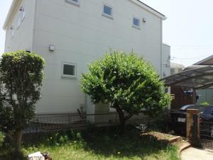 円形花壇でガーデンリフォーム<br>千葉市K様邸4