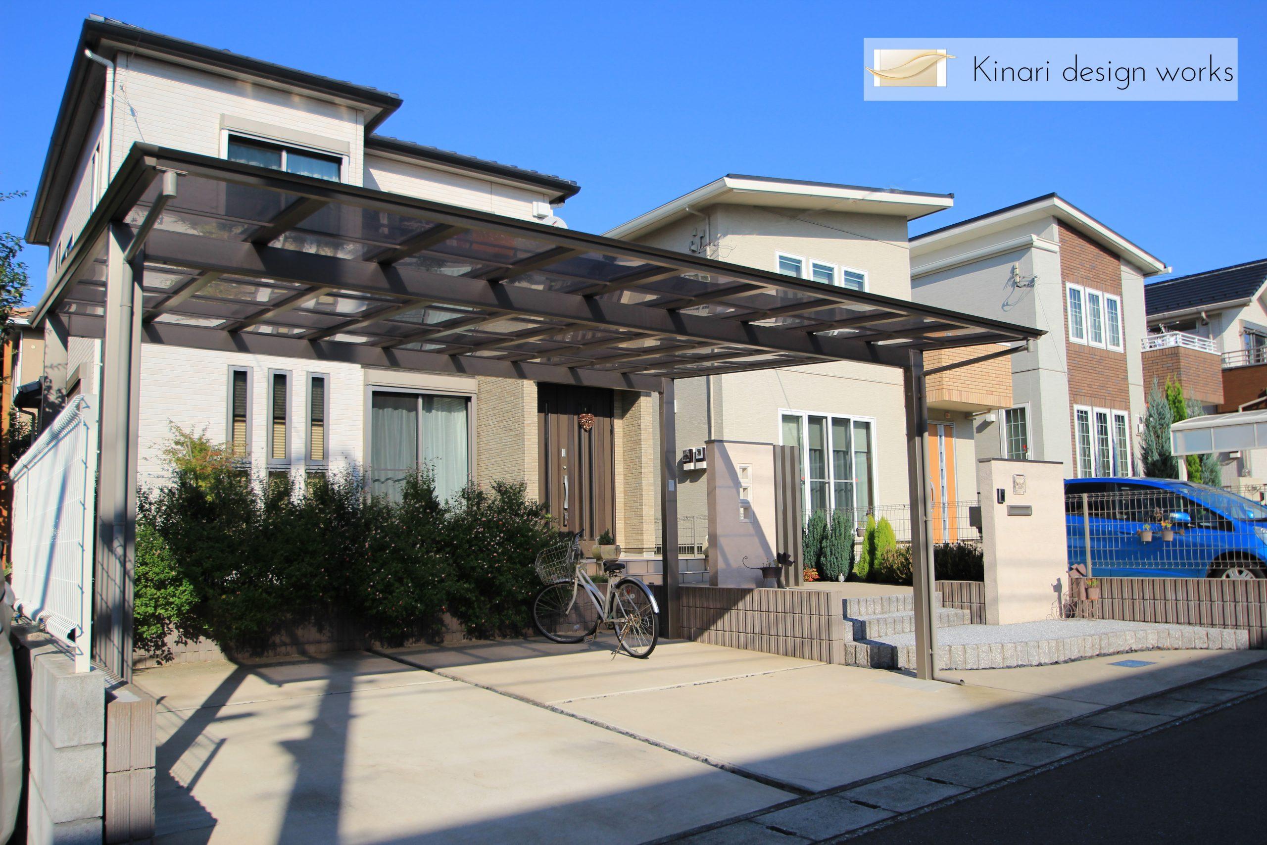 大きなカーポートがある家<br>松戸市H様邸1