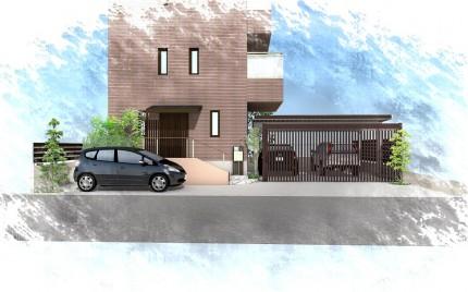 袖ヶ浦市にて。既存駐車場を素敵にエクステリアリフォーム。3